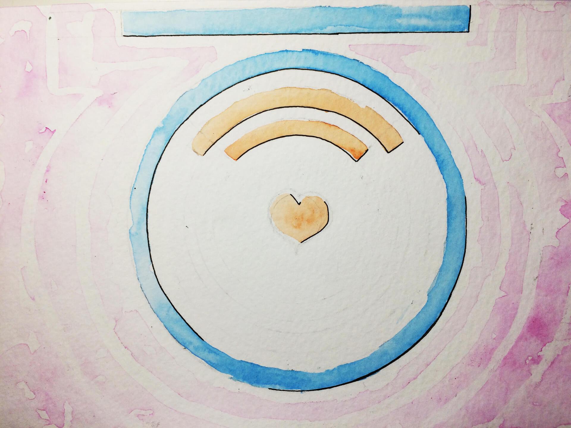 Logo du Café avec un coeur