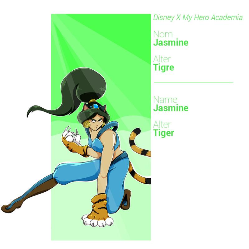 Jasmine a des oreilles, une queue et des griffes rétractiles de tigre
