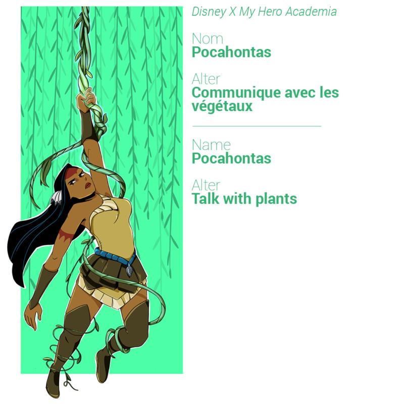 Pocahontas peut communiquer avec les végétaux